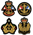 classic nautical royal emblem badge shield vector image vector image