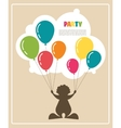 clown holding colorful baloons vector image vector image