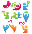 collection loves and lives logos vector image vector image