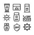 cosmetic sun icon set vector image