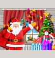 cozy interior christmas room vector image