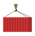 crane hook lifting container vector image vector image