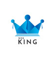 crown and people logo concept business team work vector image