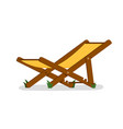 deck chair isolated outside folding deck chair vector image