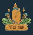 design hawaii tiki bar and surfing ethnic surf vector image vector image