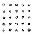 eco glyph icon set vector image