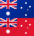 Flag of Australia Australian Red Ensign vector image vector image