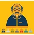 Flat design senior citizens vector image