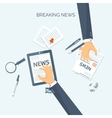 Flat header Online news vector image vector image