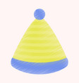 flat shading style icon striped hat vector image vector image