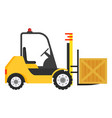 forklift machine industrial truck to move boxes vector image vector image