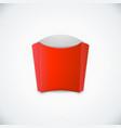 french fries box mockup vector image