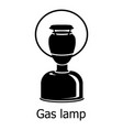 gas lamp icon simple black style vector image vector image
