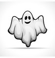 ghost on white background vector image vector image