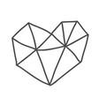 hand drawn geometric scandinavian velentines day vector image vector image