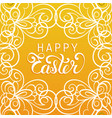 happy easter handwritten type greeting card in vector image vector image