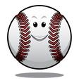 Happy white cartoon baseball ball vector image vector image
