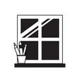house window icon vector image