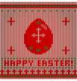 knitted egg gr vector image vector image