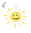 laughing sun childs drawing sun summer vector image vector image