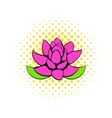 Lotus flower icon comics style vector image vector image
