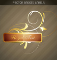 luxuary label vector image vector image