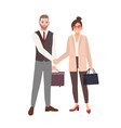 male and female business partners employees or vector image vector image