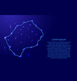 map lesotho from the contours network blue vector image vector image