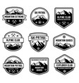 mountain insignias vector image