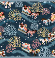 northern town seamless pattern for winter new vector image