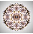 ornamental round pattern in aztec style