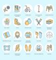 orthopedic trauma rehabilitation line icons vector image vector image
