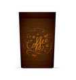 packaging for coffee template with coffee vector image vector image