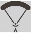 parachute sport icon vector image vector image