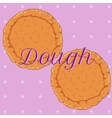 pastry dough for pizza or pie vector image vector image