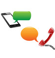 phone communication background vector image