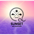 pink sunset with violet water sea surface vector image vector image