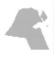 pixel map of kuwait dotted map of kuwait isolated vector image