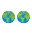 planet earth world symbol environment ecology vector image vector image
