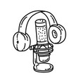 podcast icon doodle hand drawn or outline icon vector image
