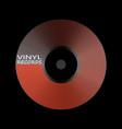 poster of the vinyl record music label logo vector image vector image