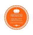 Premium quality labels and badges vector image