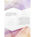 Print booklet with crystal structure border vector image