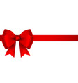red bow for gift and greeting card isolated on vector image vector image