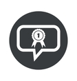 Round 1st place dialog icon vector image