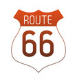 route 66 roadsign symbol red lines vector image vector image