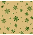 Seamless snowflakes pattern EPS 10 vector image vector image