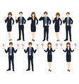 set cartoon business people no4 vector image vector image