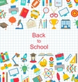Set of School Icons Back to School Objects vector image vector image