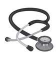 stethoscope isolated on a white background vector image